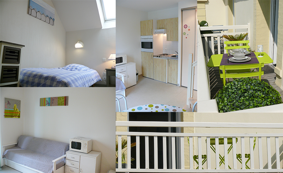 location appartement studio dinard r sidence du paradice. Black Bedroom Furniture Sets. Home Design Ideas